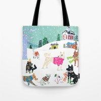 Winter Jindos Tote Bag