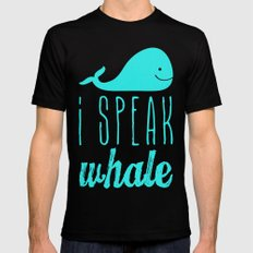 I Speak Whale II Mens Fitted Tee Black SMALL