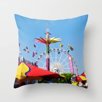 County Fair Throw Pillow