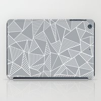 Abstraction Lines Grey iPad Case