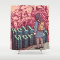 First line of the Earth Shower Curtain