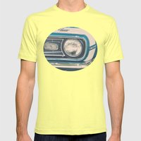 Blue Classic Camaro Mens Fitted Tee Lemon SMALL