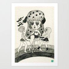 Pizza Ring Art Print