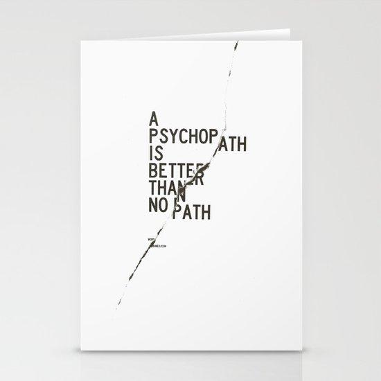 Psychopath Stationery Card