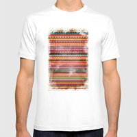 Bulgarian Rhapsody Pattern Mens Fitted Tee White SMALL