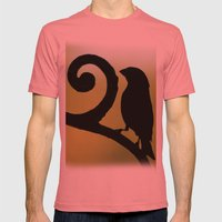 Bird on the Ironwork Mens Fitted Tee Pomegranate SMALL