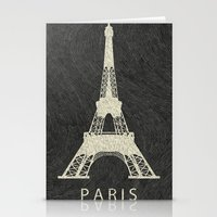 paris Stationery Cards featuring Paris by NJ-Illustrations