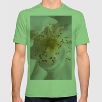 White Bloom Mens Fitted Tee Grass SMALL