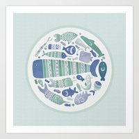 Little Fishes Art Print