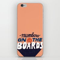Numbers on the Boards iPhone & iPod Skin