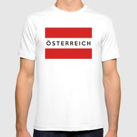Austria Country Flag Ost… Mens Fitted Tee White SMALL