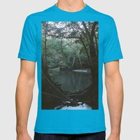 Drabby Swampy Creek Mens Fitted Tee Teal SMALL
