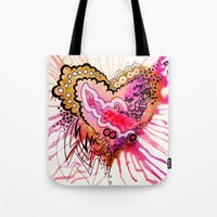Golden Love Tote Bag