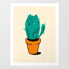 Cat-tus Art Print