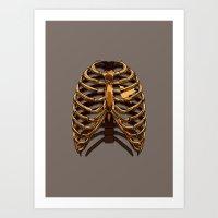 GOLDEN: CAGED Art Print