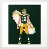 Cheese Head - Aaron Rodgers Art Print
