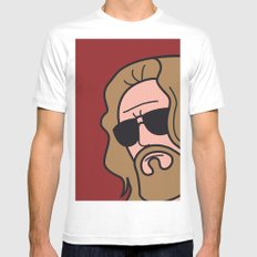 Pop Icon - The Dude White Mens Fitted Tee SMALL