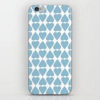 Diamond Hearts Repeat Bl… iPhone & iPod Skin