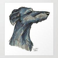 Brush Breeds-Scottish De… Art Print