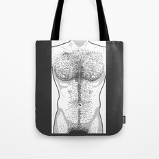 Hairy Torso - White Tote Bag