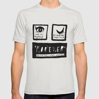 universe eyes Mens Fitted Tee Silver SMALL