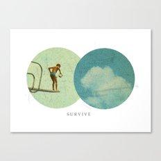 Survive | Collage Canvas Print