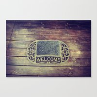 Welcome. Canvas Print