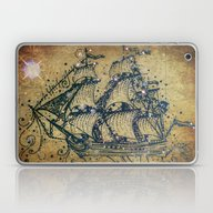 The Great Sky Ship Laptop & iPad Skin