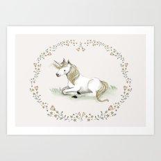 Unicorn. Art Print