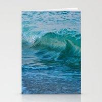 Crashing Wave At Dusk Stationery Cards