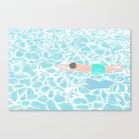 SWIMMING ALONE Canvas Print