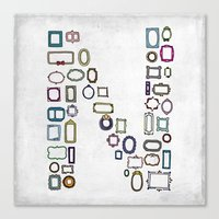 letter N - nailed frames Canvas Print