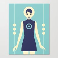 Isolde Blue Canvas Print