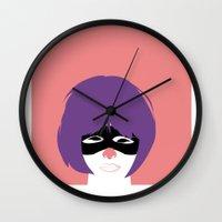 Hit Girl Wall Clock