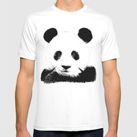 Red Panda Mens Fitted Tee White SMALL