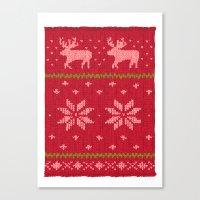 Winter Lovers Christmas Canvas Print