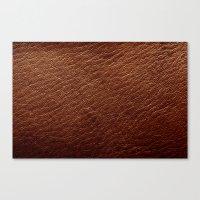 Leather Texture (Dark Brown) Canvas Print
