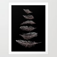 Feather Silhouettes Art Print