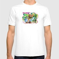 Fart Burger Mens Fitted Tee White SMALL