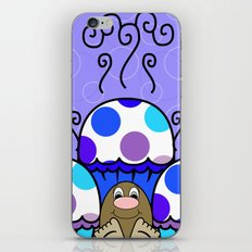 Cute Monster With Blue And Purple Polkadot Cupcakes iPhone & iPod Skin
