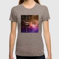 Without you I fall to pieces Womens Fitted Tee Tri-Coffee SMALL