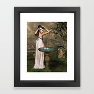Framed Art Print featuring White Rose by Illu-Pic-A.T.Art