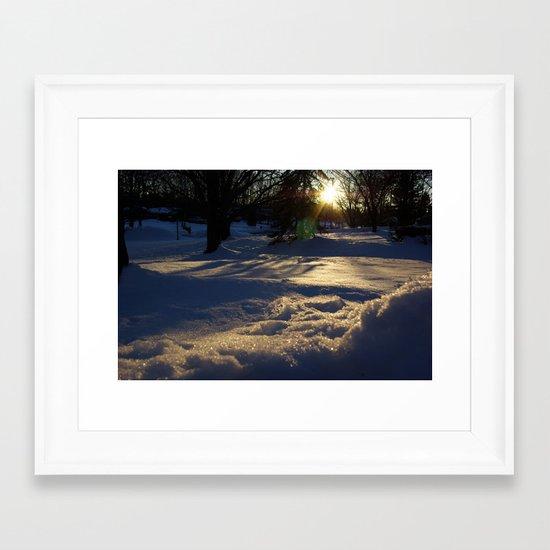 Blue Afternoon Framed Art Print