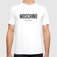 Moschino Milano Mens Fitted Tee White SMALL