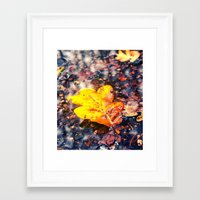 Framed Art Print featuring Autumn colors by Vorona Photography