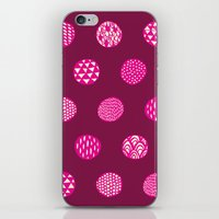Patterned Dots iPhone & iPod Skin