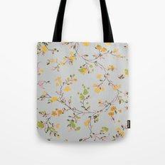 vintage floral vines - spring colors Tote Bag