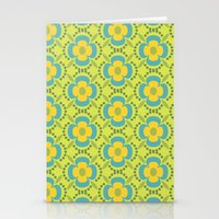 Retro Cold Floral 2 Stationery Cards