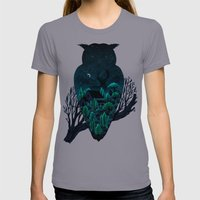 Owlscape Womens Fitted Tee Slate SMALL