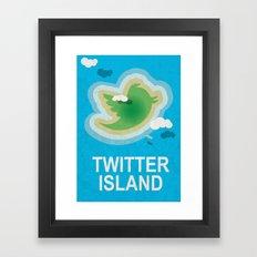 Twitter Island Framed Art Print